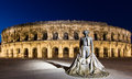 The arena of nimes is a roman amphitheatre found in the french city of nimes Stock Images