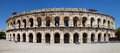 Arena of nimes roman france Stock Photography