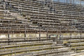 Arena seating image takne of at the roman nimes languedoc roussillon france europe Royalty Free Stock Photos