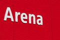 Arena text on the wall it is not a logo just a Stock Photography