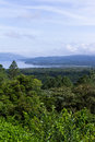 Arenal lake and rainforest Royalty Free Stock Photo