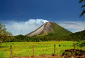 Arenal volcano in costa rica the classic cone shape of Royalty Free Stock Image