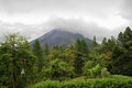 Arenal volcano in overcast day Royalty Free Stock Photography
