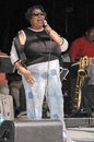 Aretha franklin at the sound check rehearsal for s concert at the greek theatre los angeles ca Stock Photography