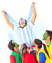 Argentina as champion Stock Images