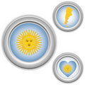 Argentina Buttons with heart, map Stock Photo