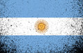 Argentina grunge flag banner illustration design graphic Stock Image