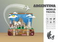 Argentina Landmark Global Travel And Journey Infographic luggage