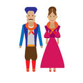 Argentina national dress illustration of costume on white background Royalty Free Stock Images