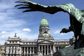 Argentina parliament condor a bronze glaring at the argentine national congress palace in buenos aires the is kilometre Royalty Free Stock Image