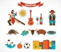 Argentina - set of icons Royalty Free Stock Photo
