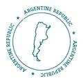Argentina vector map.