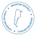 Argentina vector map sticker. Royalty Free Stock Photo