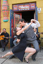 Argentine tango outdoor performance in buenos aires argentina Royalty Free Stock Photography