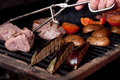 Argentinian cooking meat  barbecue Royalty Free Stock Photo