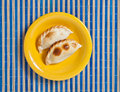 Argentinian empanadas plate with two Royalty Free Stock Photography