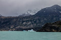 Argentino lake the in argentinian patagonia with its green waters blue ice blocks and blue mountains with ice peaks Royalty Free Stock Image