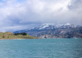 Argentino lake the in argentinian patagonia with its green waters and blue mountains with ice peaks Stock Image