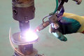 argon arc welding, Inert gas shielded arc welding Royalty Free Stock Photo