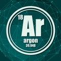Argon chemical element. Royalty Free Stock Photo