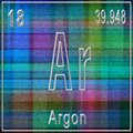 Argon chemical element, Sign with atomic number and atomic weight Royalty Free Stock Photo