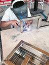 Argon welding Royalty Free Stock Photo