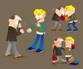 Argue and fighting illustration of two men get arguing Royalty Free Stock Images