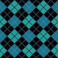 Argyle Blue Seamless Background