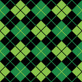 Argyle Green Seamless Background