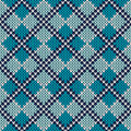 Argyle knitted pattern seamless vector background ornament on the wool texture eps available Stock Photos