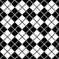Argyle Pattern_Black-White Images libres de droits
