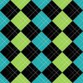 Argyle Pattern Blue EPS