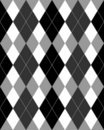 Argyle Pattern Grayscale EPS Royalty Free Stock Photo