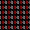 Argyle pattern illustration background black and red Royalty Free Stock Images