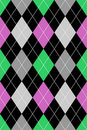 Argyle Pattern Pink & Green EPS Royalty Free Stock Images