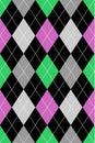 Argyle Pattern Pink & Green EPS Royalty Free Stock Photo