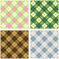Argyle pattern set Stock Image