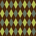 Argyle seamless pattern Stock Images