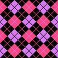 Argyle Violet Pink Seamless Ba...