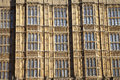 Arhitectur detail of houses of parliament london fragment united kingdom Stock Images