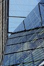 Arhitecture abstract view of glass and steel building facade Stock Photography