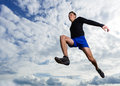 Arhlete in long jump Royalty Free Stock Photo