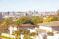 Arial view of city of durban centre from viewpoint Royalty Free Stock Photo