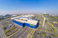 Arial view of ikea thailand bangna january blue sky with out clouds the store is the world s largest furniture Stock Photos