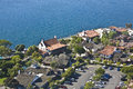 Arial view of Seaport Village in San Diego, CA US. Royalty Free Stock Photos