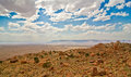 The arid beauty of the arizona desert on a clear summer day Royalty Free Stock Photo