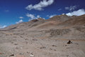 Arid valley in Tajikistan Royalty Free Stock Photo