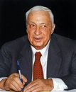 Ariel sharon member of knesset at the time the acting likud party chairman attends a likud conference as one of the three Stock Images