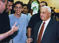 Ariel sharon then minister of trade and industry attends a jewelry fair in jerusalem on jan Royalty Free Stock Photos