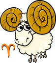 Aries or the ram zodiac sign Stock Photography